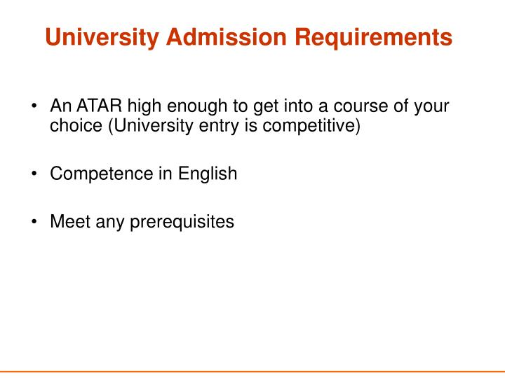 University Admission Requirements