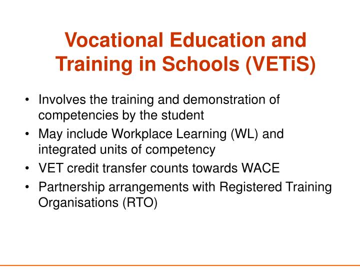 Vocational Education and Training in Schools (VETiS)