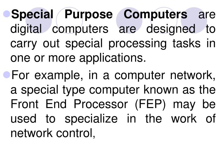 Special Purpose Computers