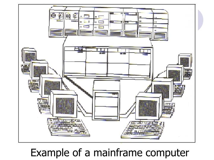Example of a mainframe computer