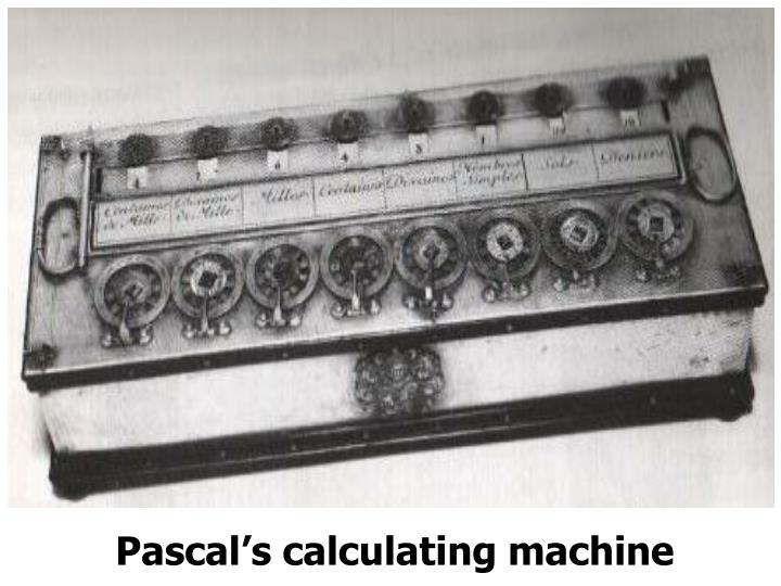 Pascal's calculating machine