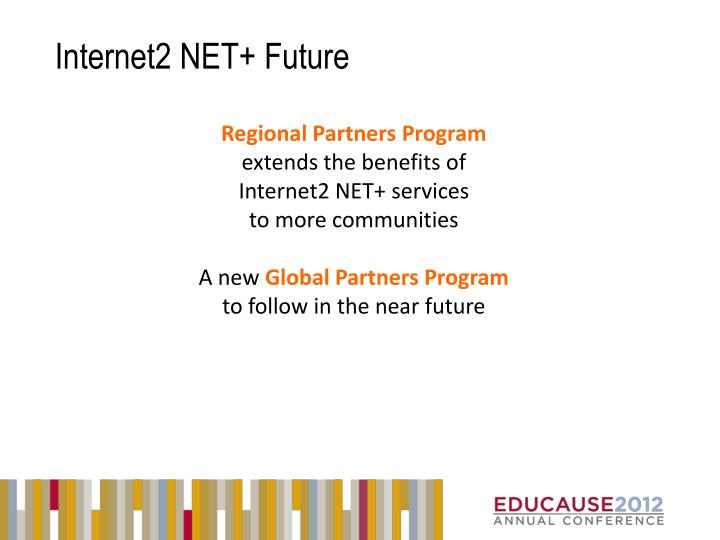 Internet2 NET+ Future