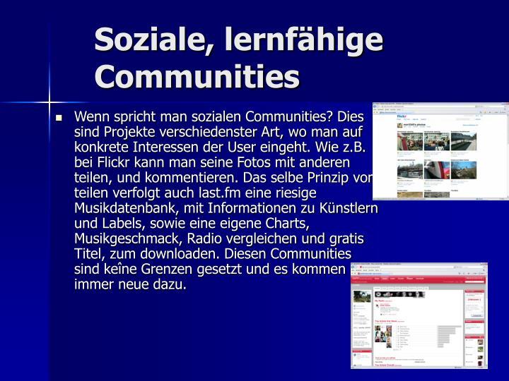 Soziale, lernfähige Communities