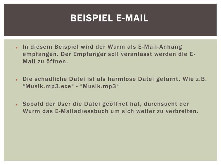 Beispiel E-Mail