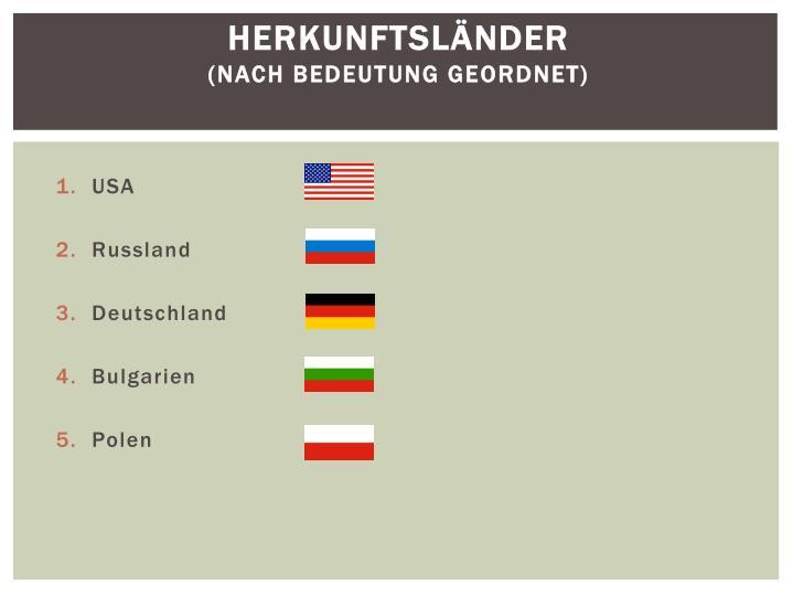 Herkunftsländer