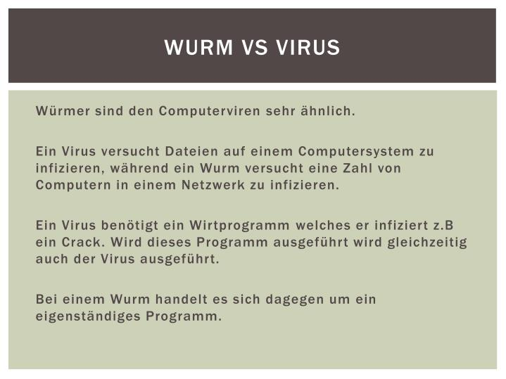 Wurm vs Virus