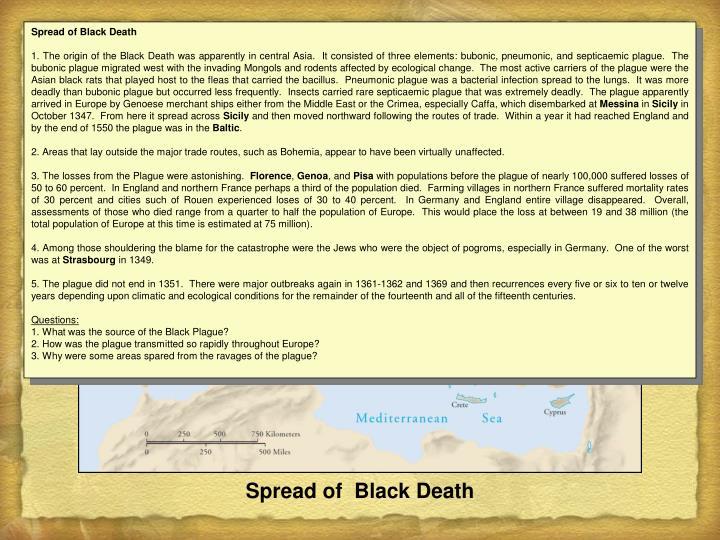 Spread of Black Death