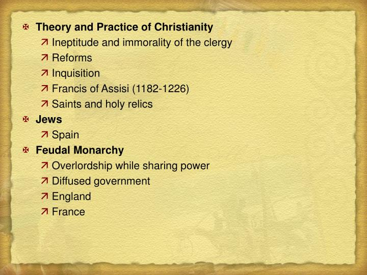Theory and Practice of Christianity