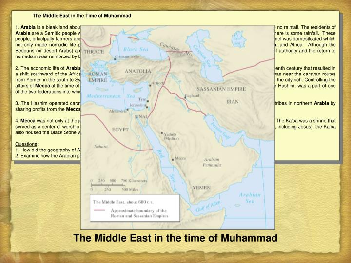The Middle East in the Time of Muhammad