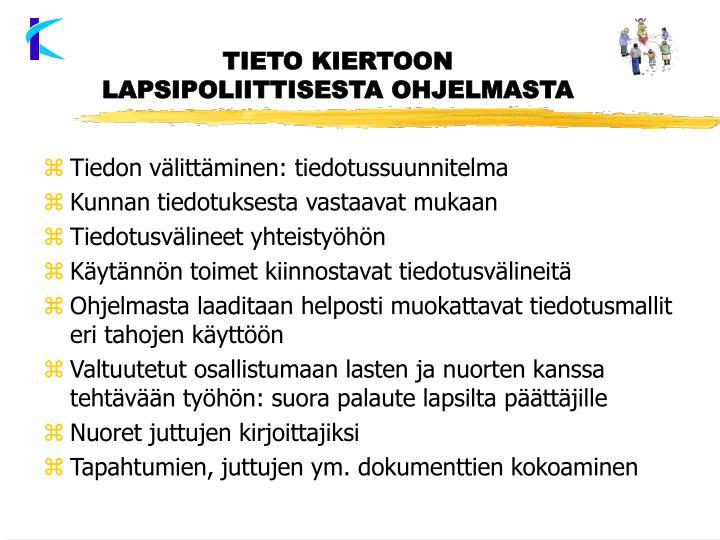 TIETO KIERTOON