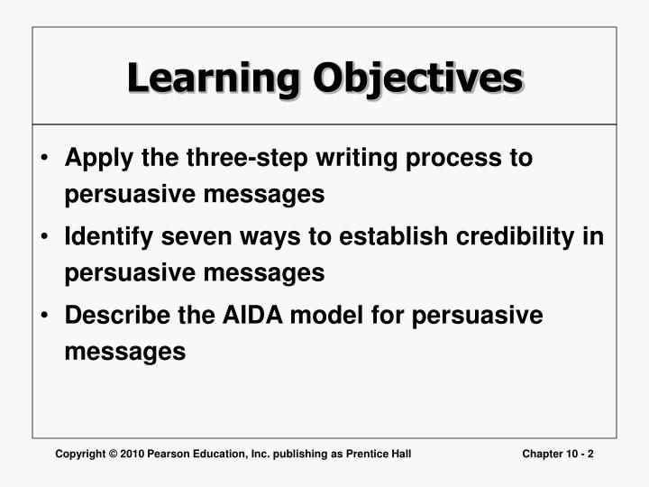 writing persuasive messages Writing persuasive messages three-step persuasion process planning writing completing planning the message analyze the situation gather the information.