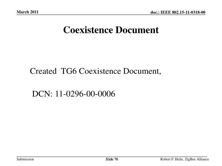 Coexistence Document