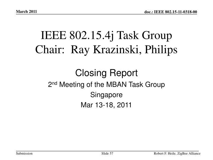 IEEE 802.15.4j Task Group