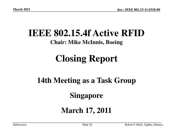 IEEE 802.15.4f Active RFID