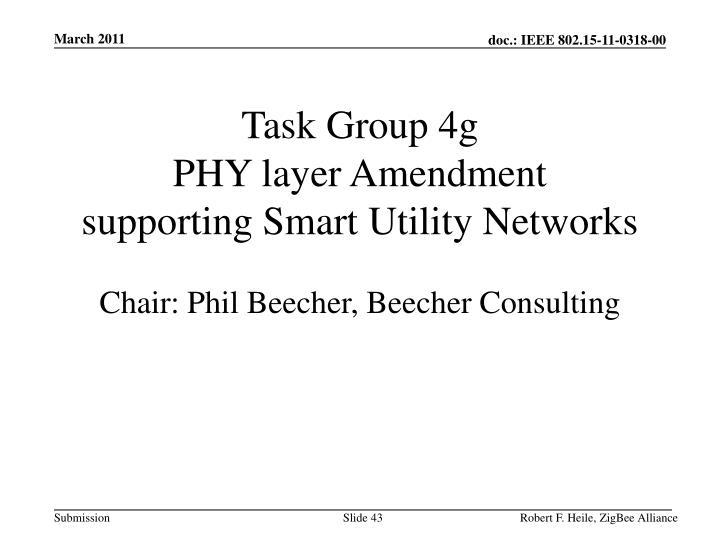 Task Group 4g