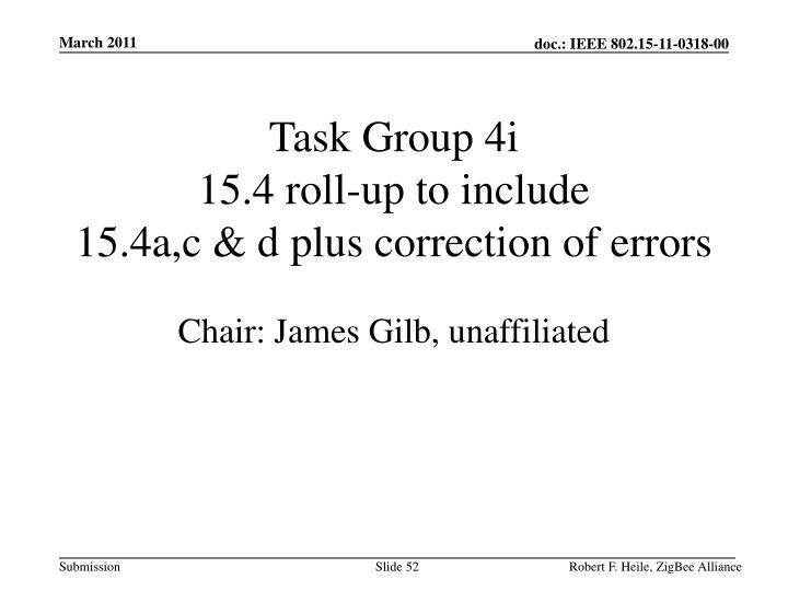 Task Group 4i