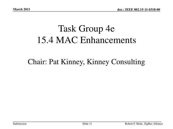 Task Group 4e