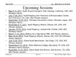 upcoming sessions