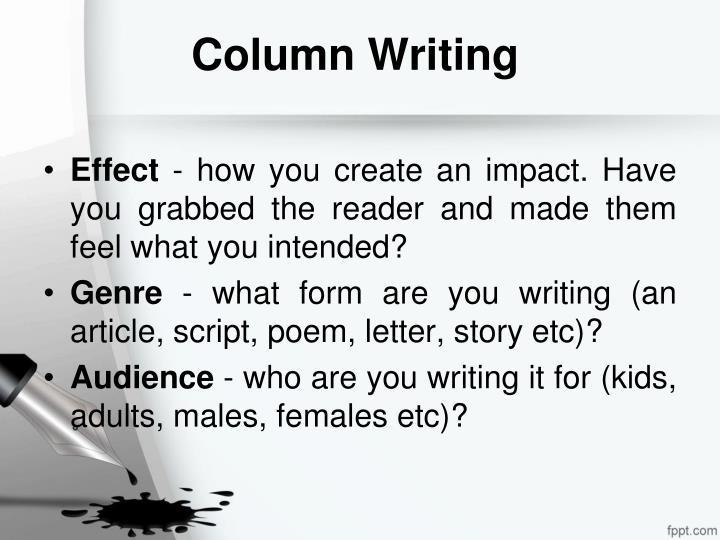 Column Writing