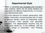 departmental style