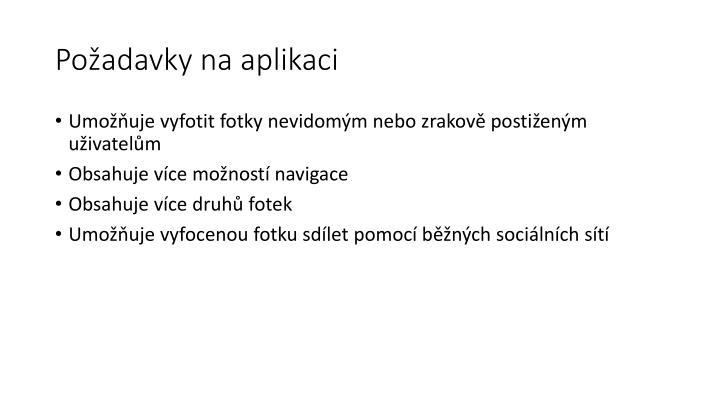 Požadavky na aplikaci