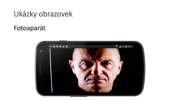 Ukázky obrazovek