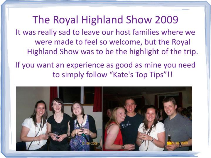 The Royal Highland Show 2009