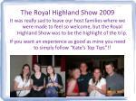 the royal highland show 2009