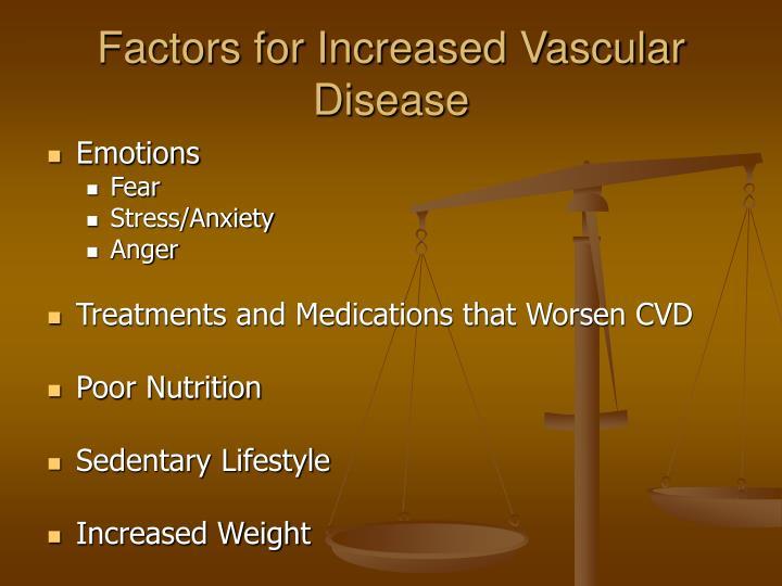 Factors for Increased Vascular Disease
