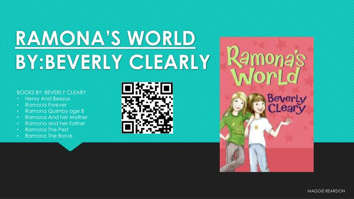 Ramona s world by beverly clearly