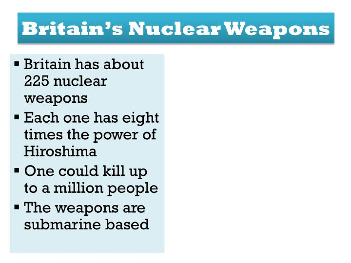 Britain's Nuclear Weapons