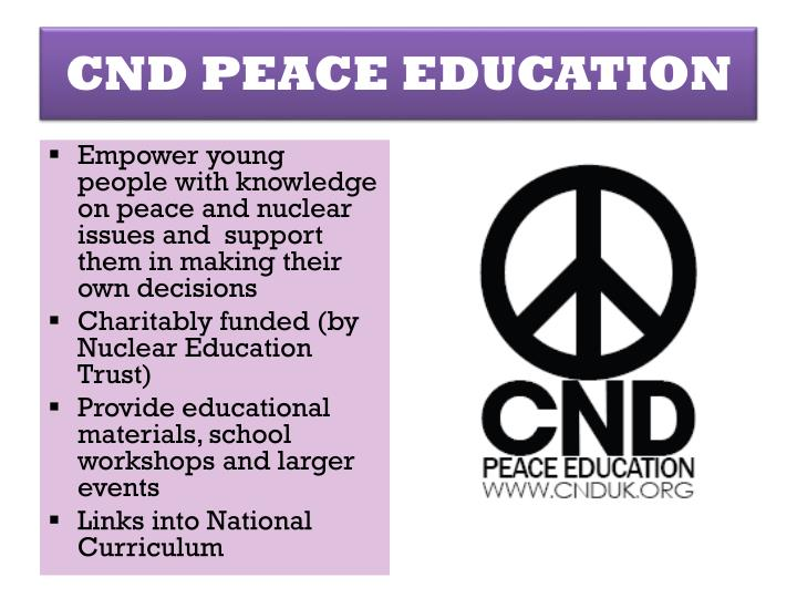 CND PEACE EDUCATION
