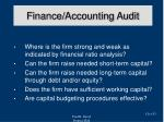 finance accounting audit
