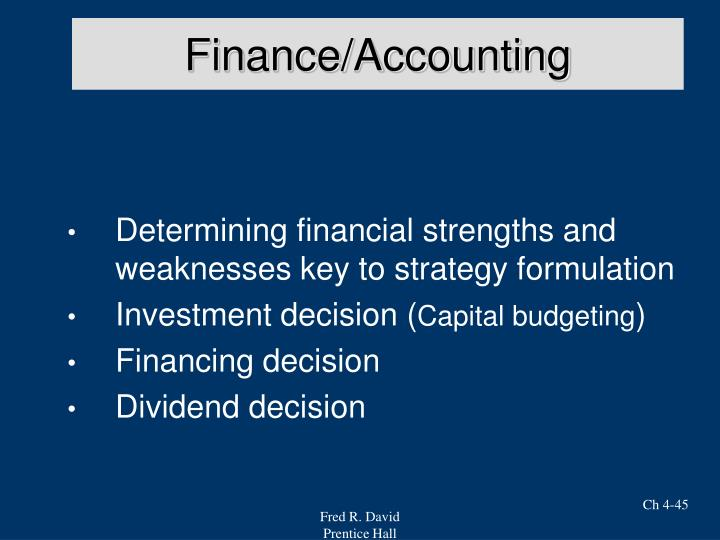 Finance/Accounting