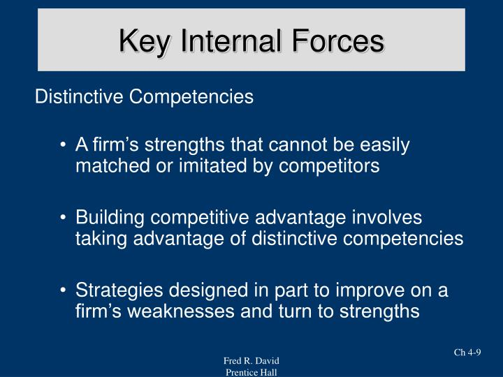 Key Internal Forces