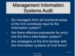 management information systems audit1