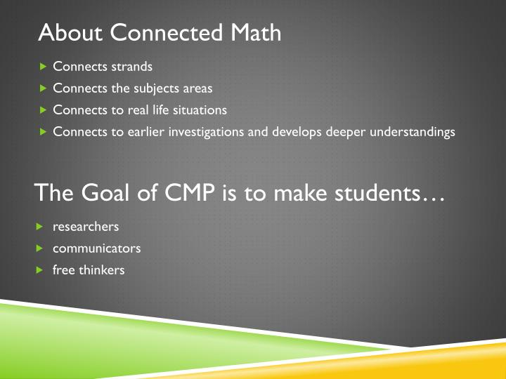 About Connected Math