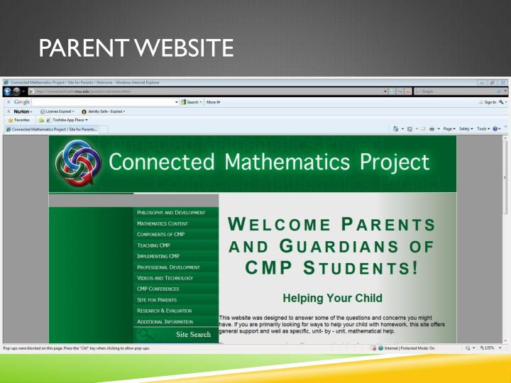 Parent website