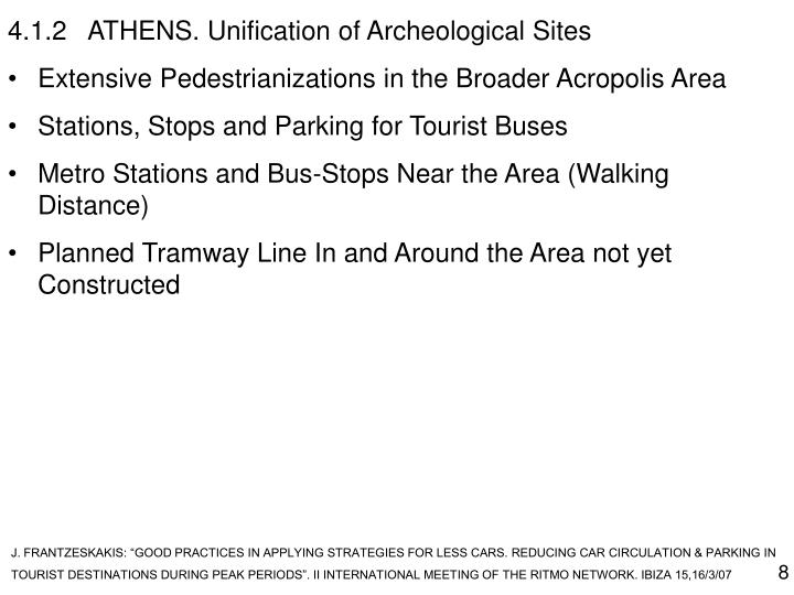 4.1.2ATHENS. Unification of Archeological Sites