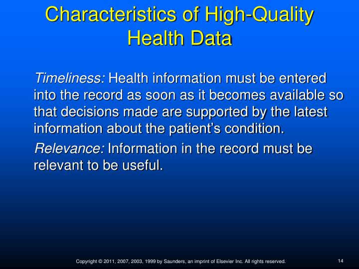 the attributes of a high quality 10 understanding data quality  you in creating data systems that provide high quality information to  attributes from the name and address operator.