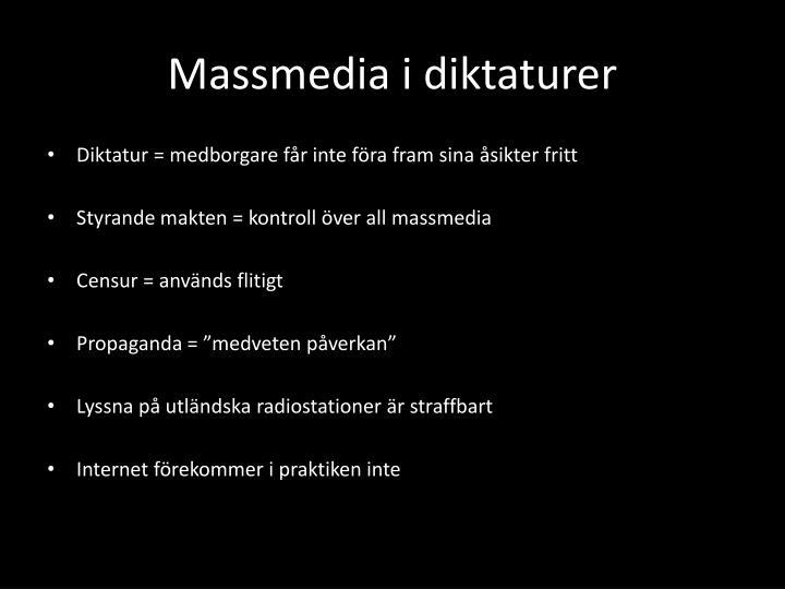 Massmedia i diktaturer