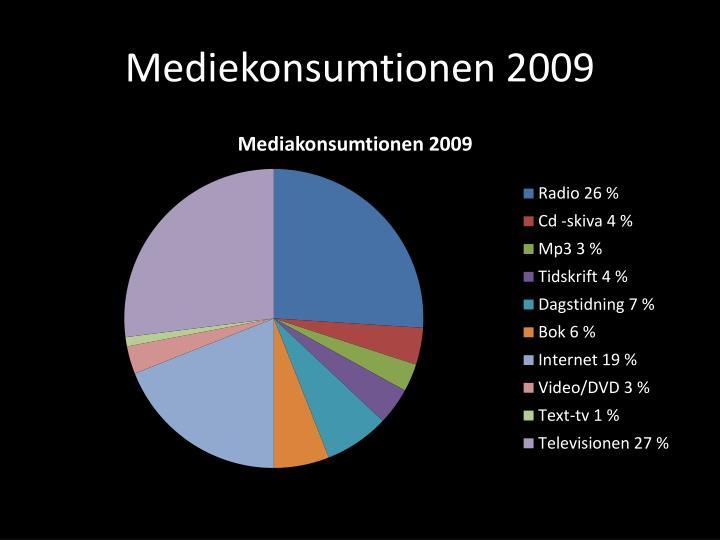Mediekonsumtionen 2009
