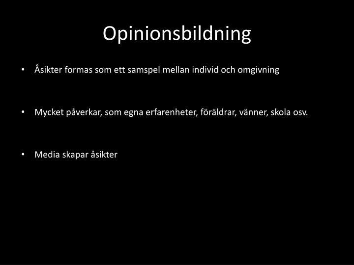Opinionsbildning