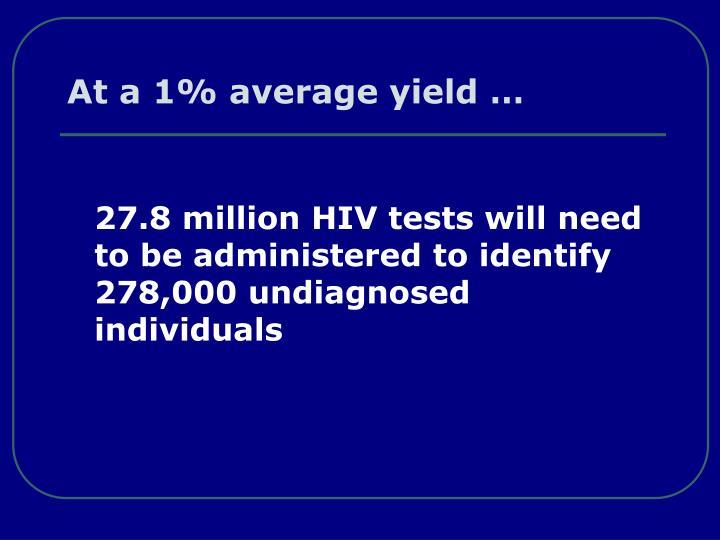 At a 1% average yield …