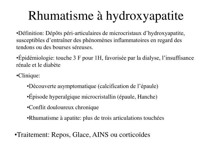 Rhumatisme à hydroxyapatite