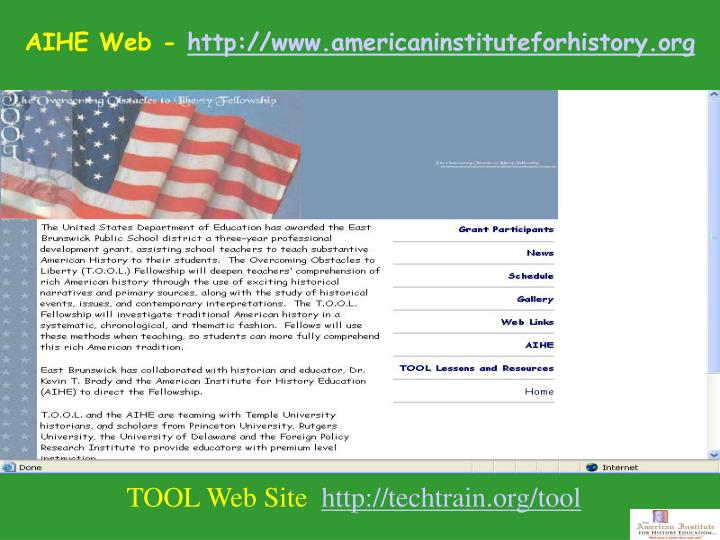Tool web site http techtrain org tool