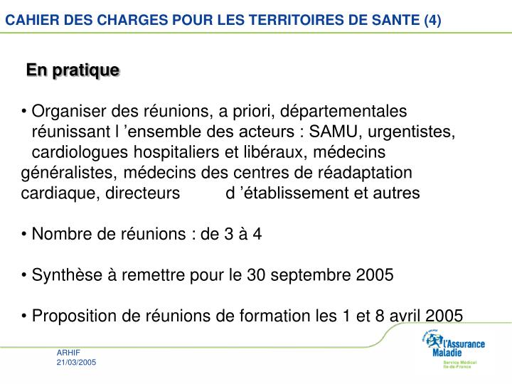 CAHIER DES CHARGES POUR LES TERRITOIRES DE SANTE (4)