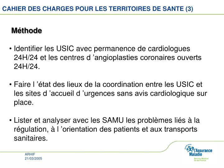 CAHIER DES CHARGES POUR LES TERRITOIRES DE SANTE (3)