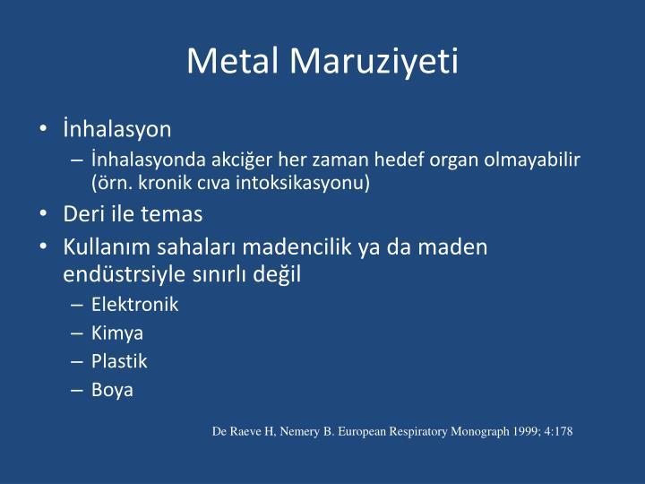 Metal Maruziyeti