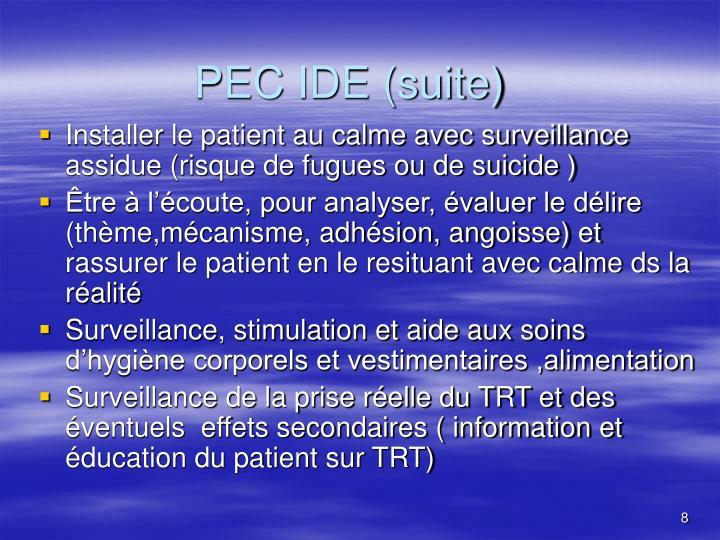 PEC IDE (suite)